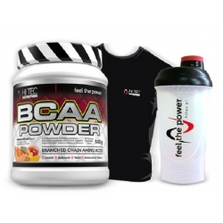 Hi Tec BCAA POWDER + shaker + koszulka