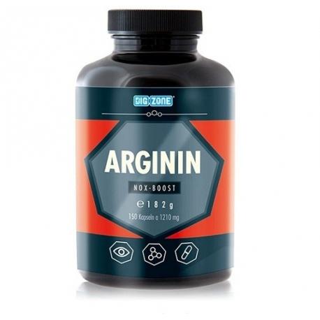 Big Zone Arginin Nox Boost 150 Kaps Zwiększa Objętość Mięśni