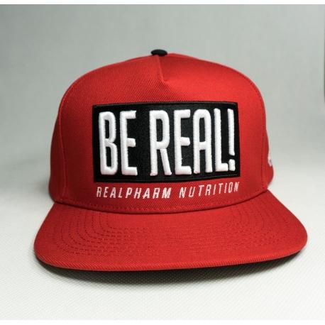"""Real Wear Czapka """"Be Real"""" Czerwona"""