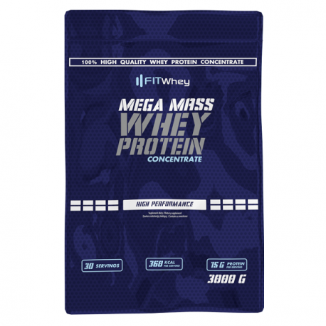 Fit Whey Mega Mass Whey Protein Concentrate 3kg