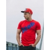 Real Wear T-shirt sztanga czerwony