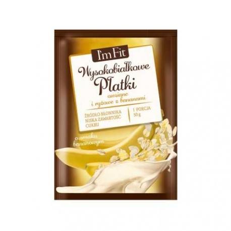 Activlab IM FIT Płatki owsiane i ryżowe z bananem 50g