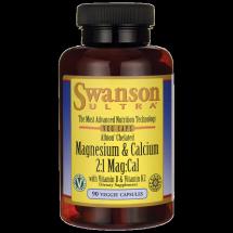 Swanson Albion Chelat wapnia i magnezu D3 K2 90
