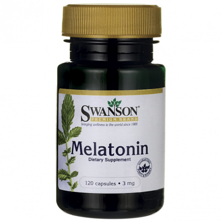 Swanson Melatonina 3mg 120 kaps