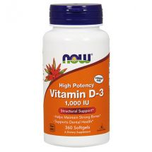 Now Foods VIT D-3 1000 IU 360Soft Gels