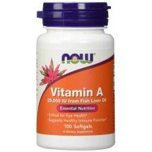 Now Foods Vitamin A 25000 IU 100 softgels