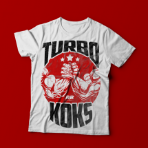 REAL WEAR T - SHIRT TURBO KOKS BIAŁY