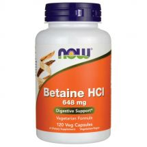 NOW FOODS BETAINE HCL 648mg 120VEG CAPS