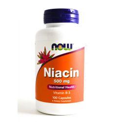 Now Foods NIACIN 500mg 100caps.