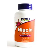 Now Foods NIACIN 500mg 100caps.
