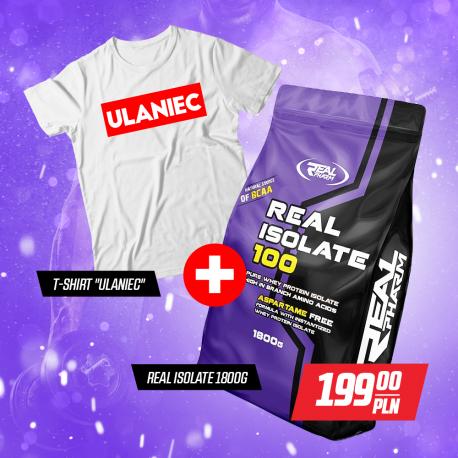 "Zetaw Real Pharm Isolate 100 1800g + T-SHIRT ""ULANIEC"""
