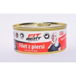 FitMeat Pierś z kurczaka w oleju 160g